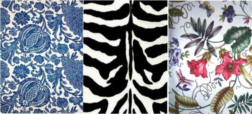 zebra floral outdoor fabric