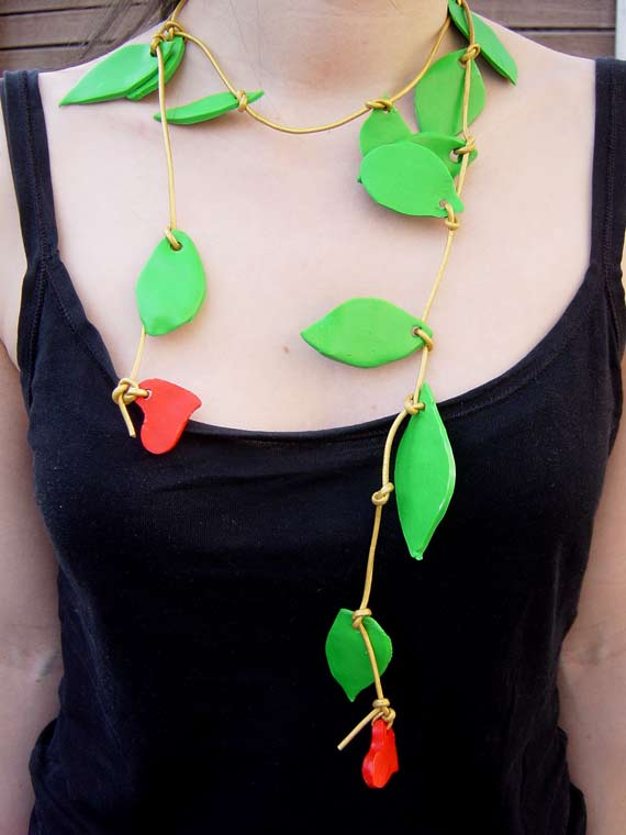 Love and Leaf Necklace