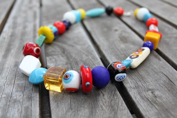 murano glass bead necklace