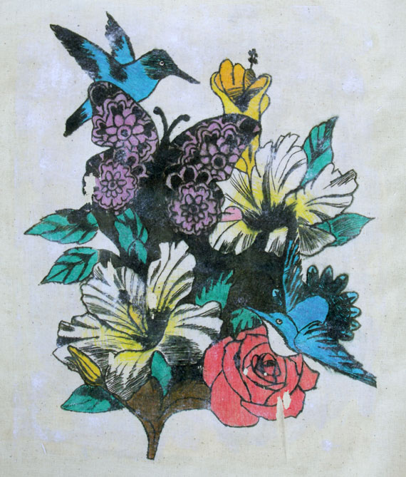 floral etching