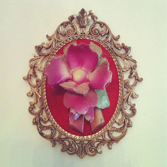 floral wall piece