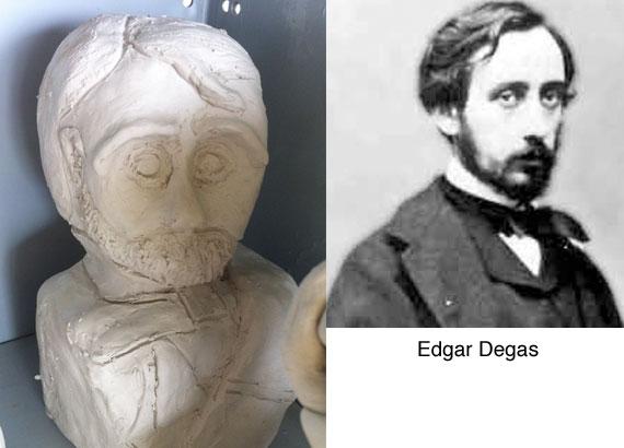 degas-clay-bust