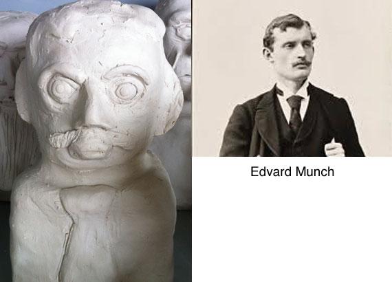 edvard-munch-clay-bust