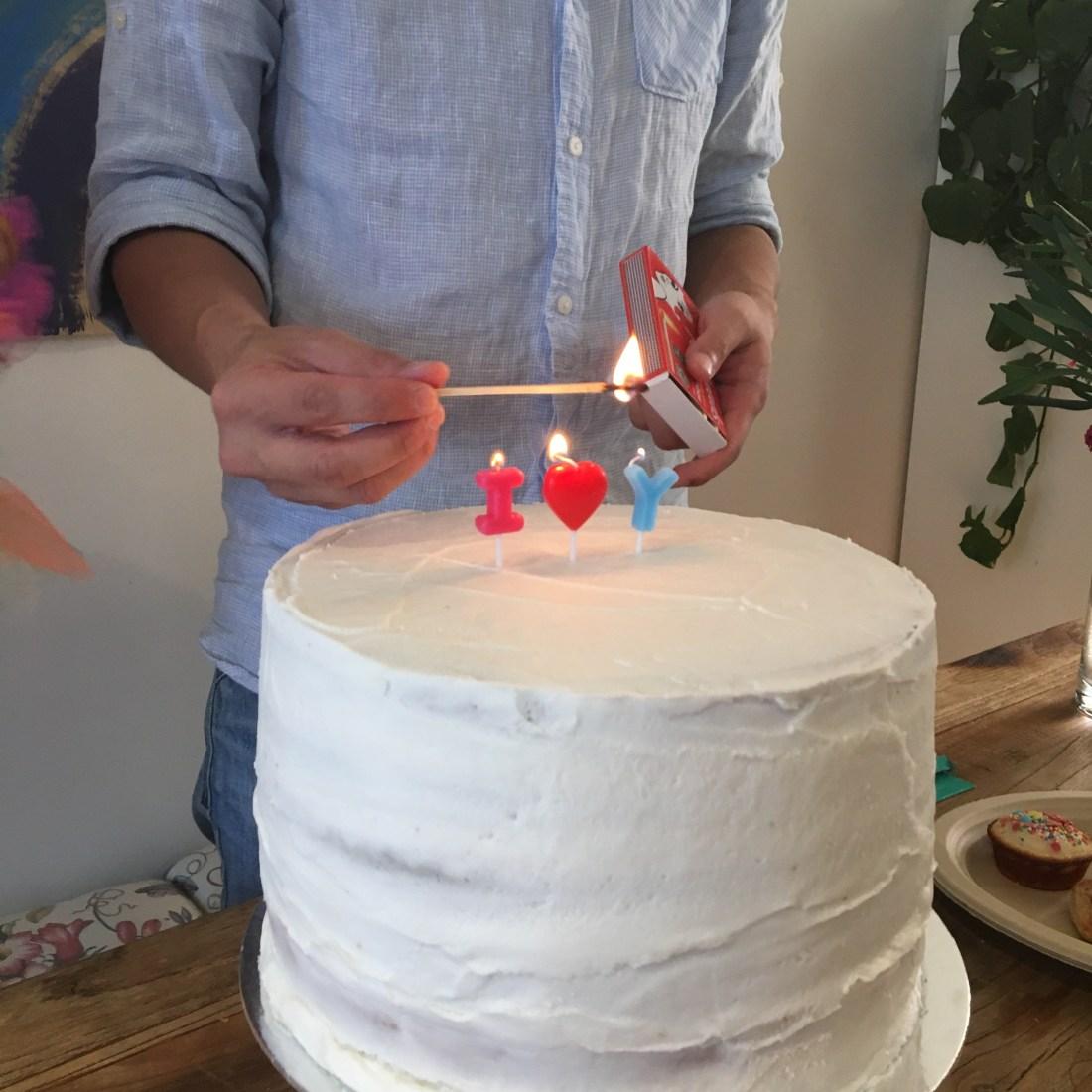Ivy rainbow cake