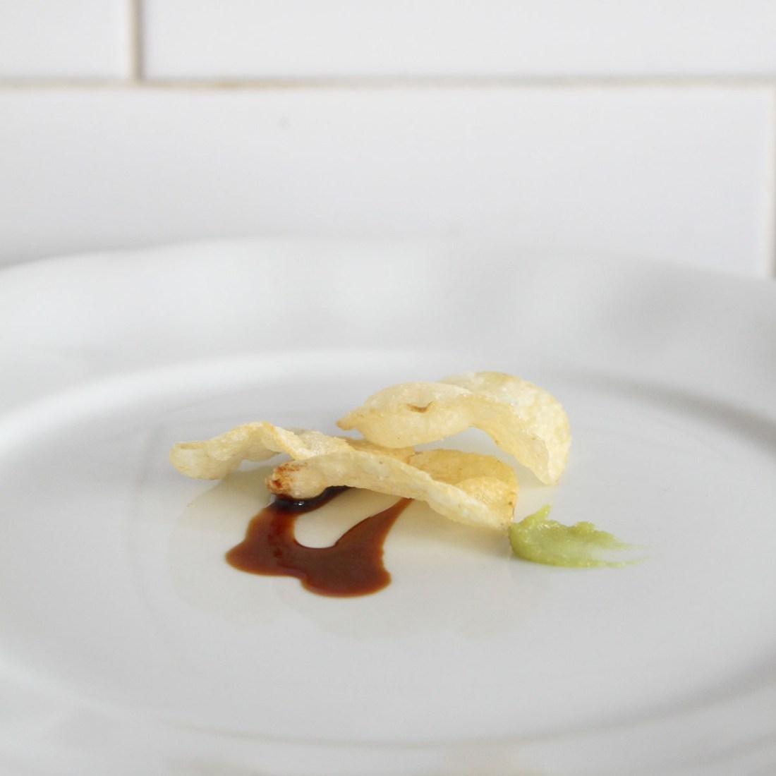 Deep Fried Wasabi Sliced Potato