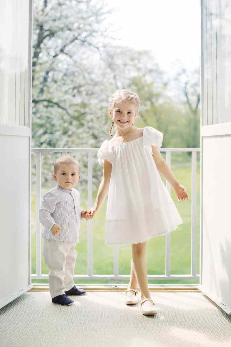 Prinz Oscar und Prinzessin Estelle