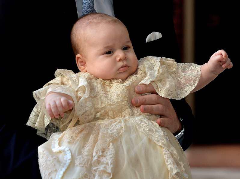 Prinz George von Cambridge bei seiner Taufe