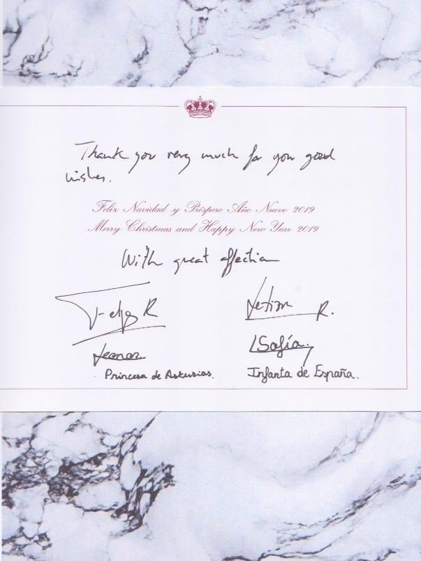 Unterschrift Prinzessin Leonor