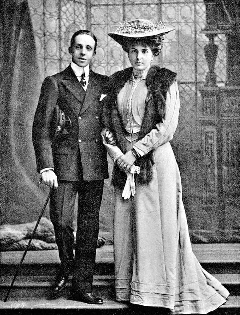 König Alfons und Königin Victoria Eugenie von Spanien