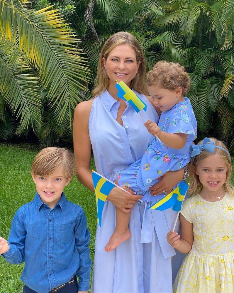 Prinzessin Madeleine mit ihren Kindern