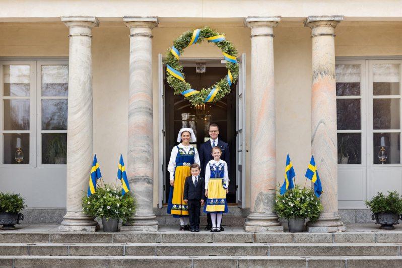Kronprinzessin Victoria und ihre Familie feiern Nationalfeiertag