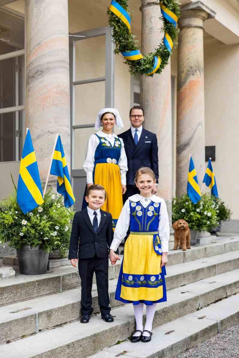 Schwedische Royals am Nationalfeiertag