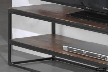 meuble tv madeira en metal avec etagere