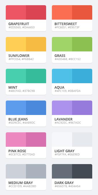 Flattastic color palette