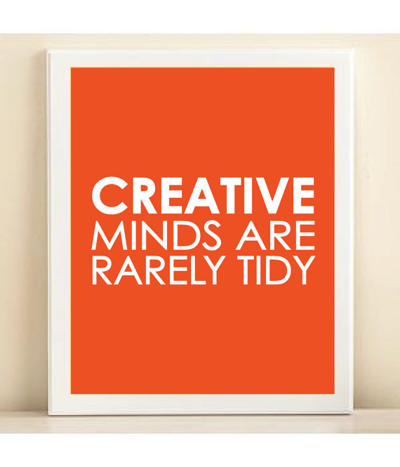"Items similar to Tangerine ""Creative Minds"" print poster on Etsy"