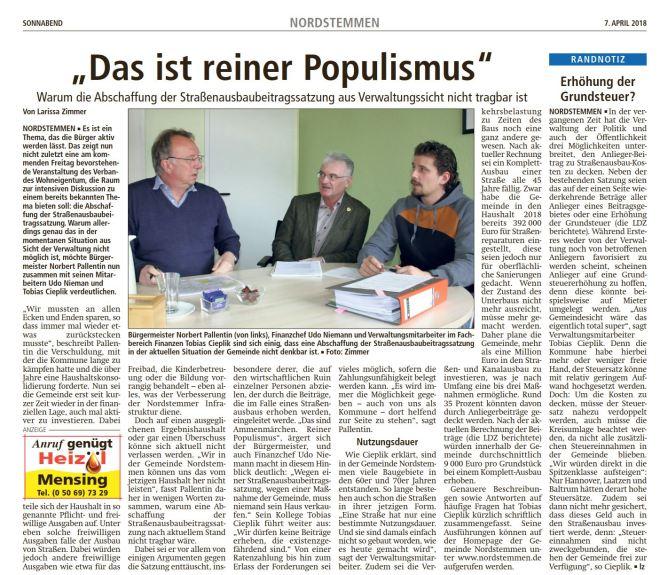 20180407_LDZ Strassengebühr grundsteuer