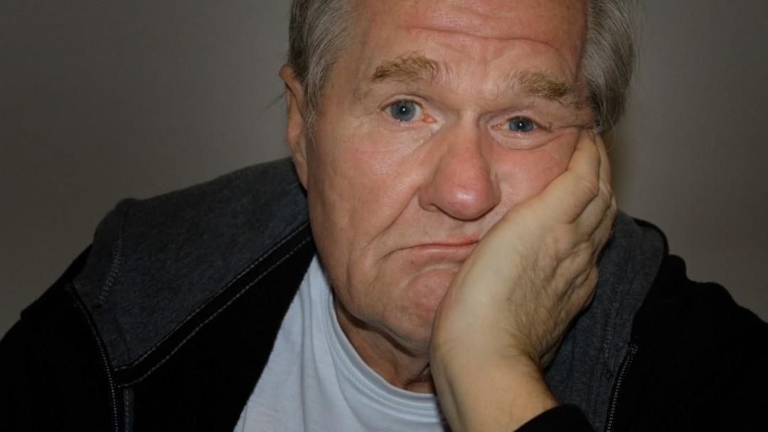 An exasperated man