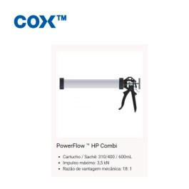 Aplicador Cox PowerFlow TM HP Combi 600ml rel. 18:1