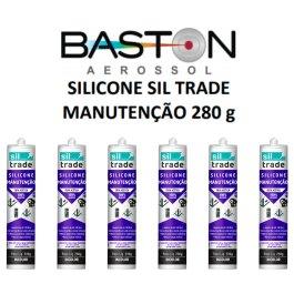 6 Tubos De Silicone Aquario Sil Trade 280g Siltrade