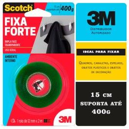 Fita VHB Dupla Face Fixa Forte Transparente 12mm X 2m 3m