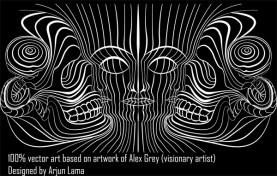 Vector artwork inspired from visionary artist Alex Grey