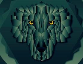 Geometric artwork of fox