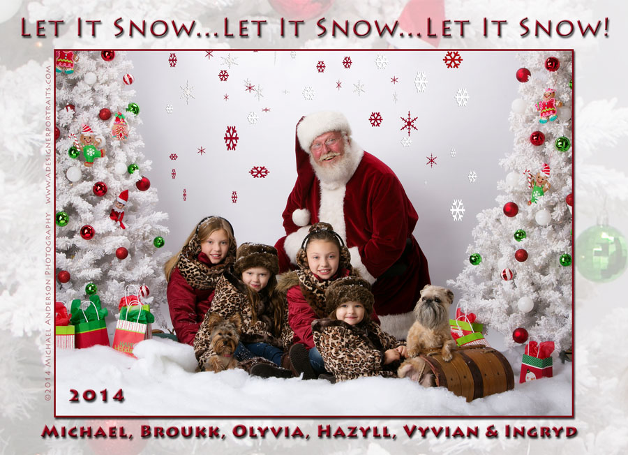 2014 Christmas Card Design Front Side Four Sisters Two