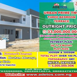 Three bedroom Terrace At Urban Prime Two
