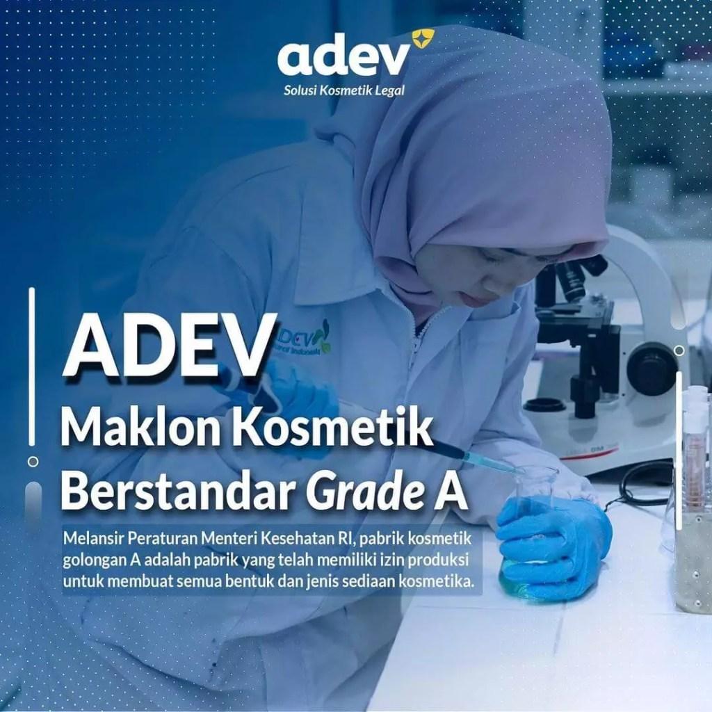 pabrik kosmetik Adev tersertifikasi CPKB golongan A dari Badan POM