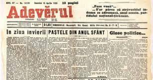 Adeverul, ediţia de Paşte din anul 1933 1