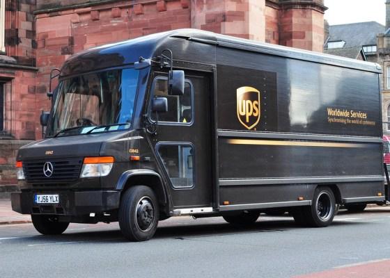 brown UPS Truck