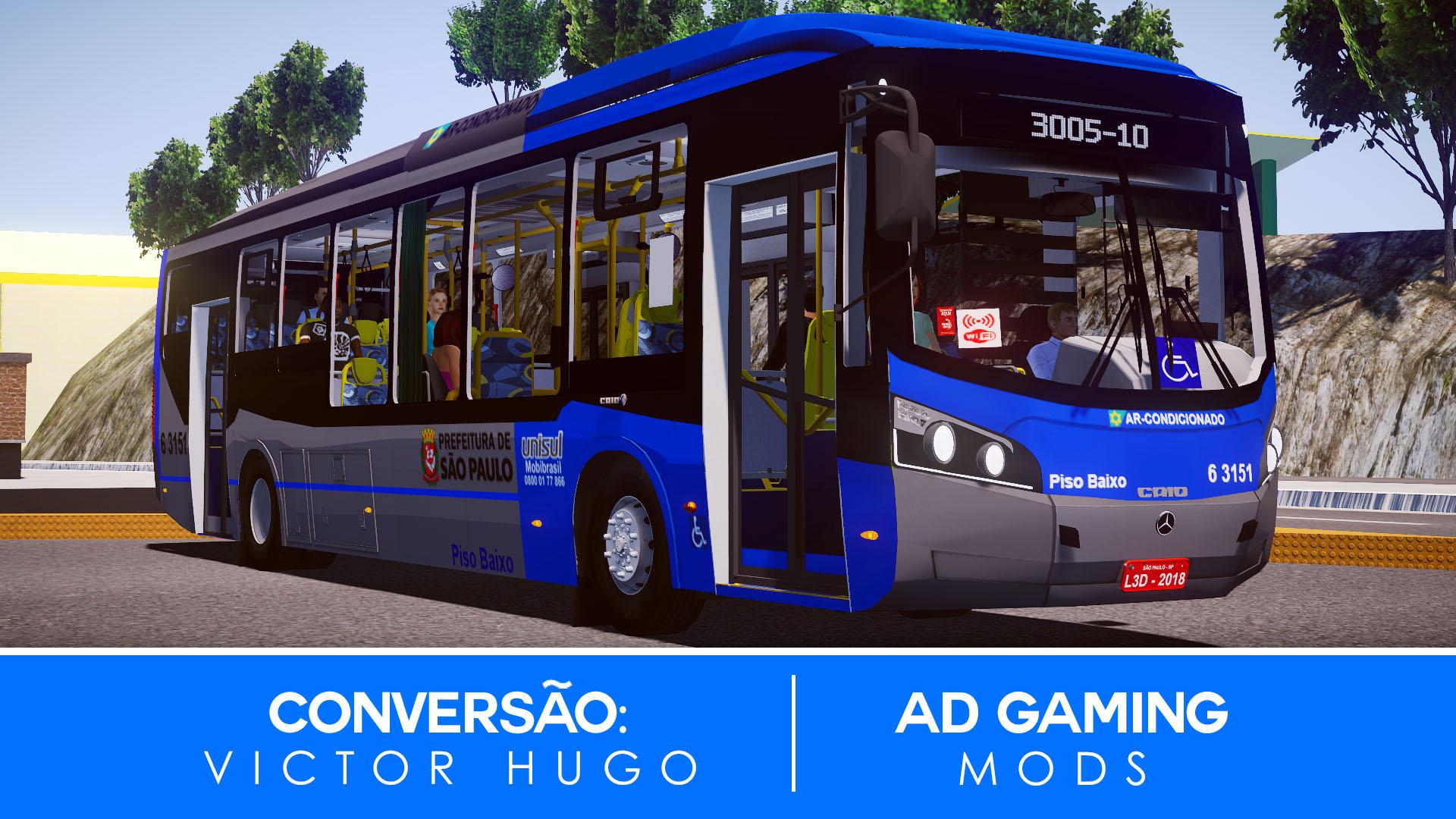 Mod do Caio Millennium BRT O500U BlueTec 5 (SP) para Proton Bus Simulator