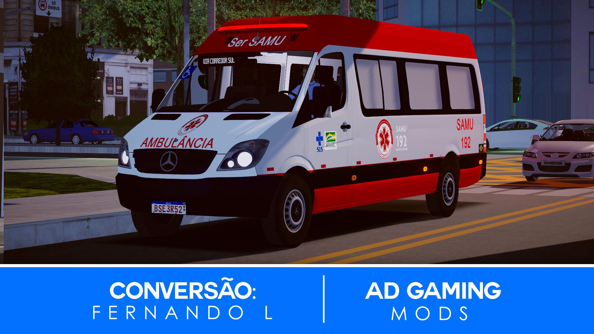 Mod do Mercedes-Benz Sprinter 313CDI (Ambulância) para Proton Bus Simulator