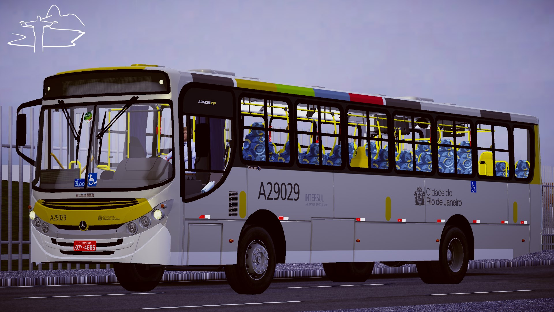 Caio Apache Vip II MB OF-1418 – Padrão Rio de Janeiro (Fase 2) para Proton Bus Simulator/Road