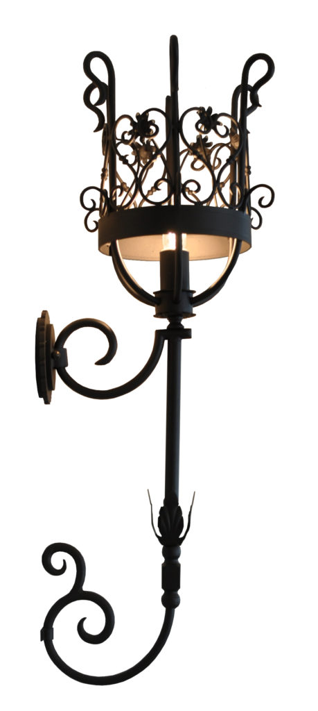 835 Dunham Wall Sconce Basket Architect Gene Verge Buster Keaton Villa Adaptation Palladio – ADG Lighting