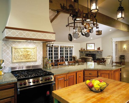 Country Kitchen With Light Fixture Pendant Lanterns ADG Lighting
