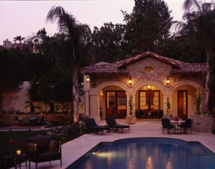 Mulholland Estates Lantern Design Pool House G Olesker Of ADG Lighting