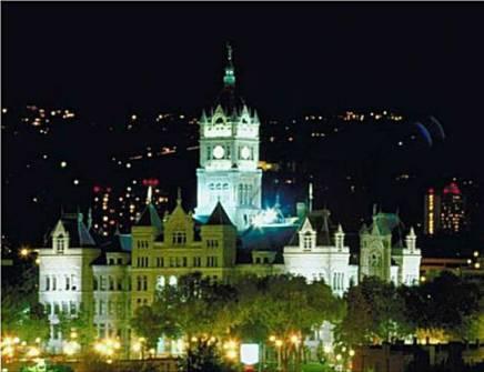 Salt Lake City Hall Induction Light Retro Fits Illuminated