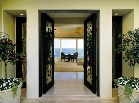 Doors With Areal View Match Lanterns ADG Lighting