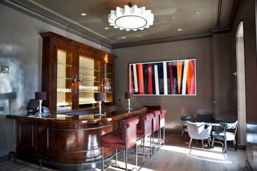 Spago14M Bar With Royere Style Pendant