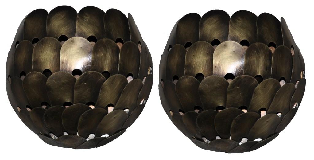 5276 Cb1 Br S Sh Blackberry Water Jet Cut Design Wall Sconce Contemporary Light Hand Made – ADG Lighting