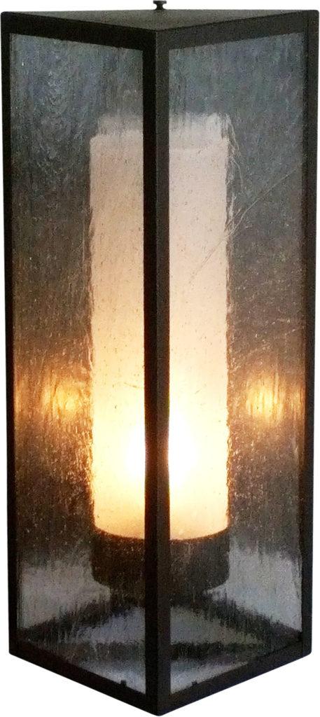 #868 Triangle Sconce Sandblasted Cylinder ADG Lighting