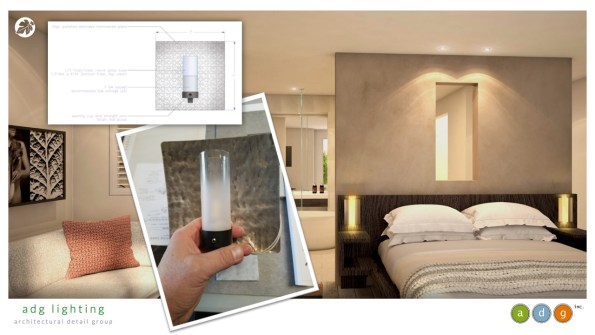 Hotel Cerro bed wall sconces adg lighting