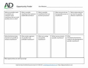 Oppoetunity Finder Lean Canvas