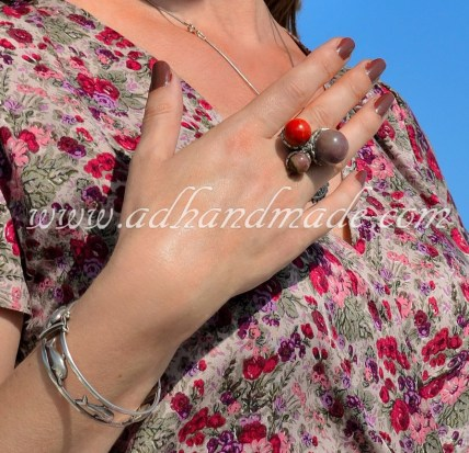 Ring design by adhandmade, semiprecious stone and silver