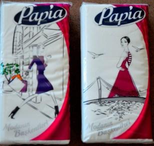 """Capitals of the Fashion"" paper handkerchief series, Design: Burçe Bekrek"