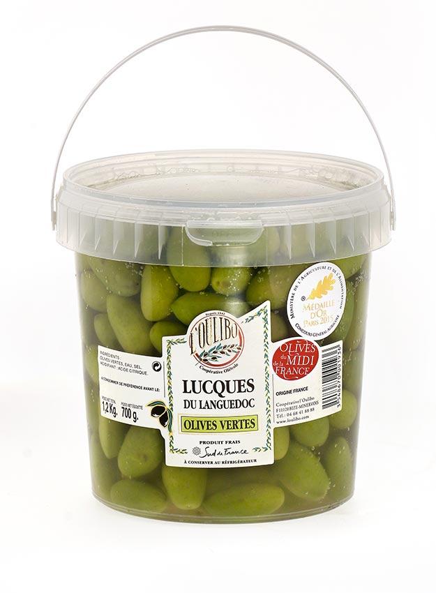 Olives vertes Lucques fraiches