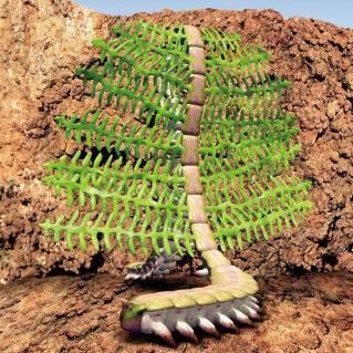 Cacing Kebun (Garden Worm) evolusi dari cacing pipih yang bersimbiosis dengan alga. Gambar dari The Future is Wild.