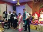 Singer Sumitraben Kansara felicitates PC Hines