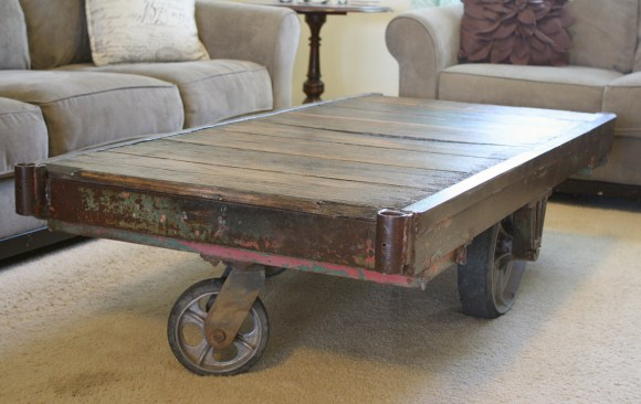 Industrial Cart Coffee Table | A Diamond in the Stuff